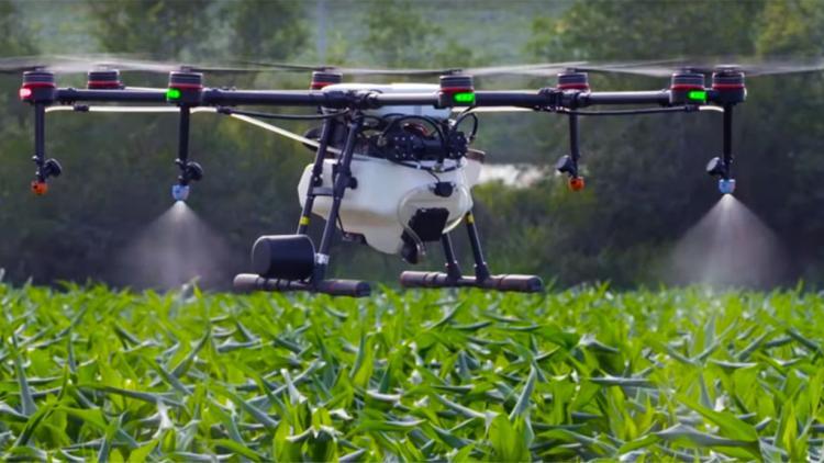 drone-pulverizador